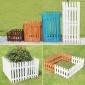 户外碳化防腐木栅栏圣诞节室内实木白围栏花园护栏装饰宠物木栅栏