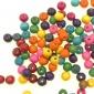 DIY宠物鸟玩具秋千爬梯配件串珠材料散珠子彩色环保漆木珠整斤